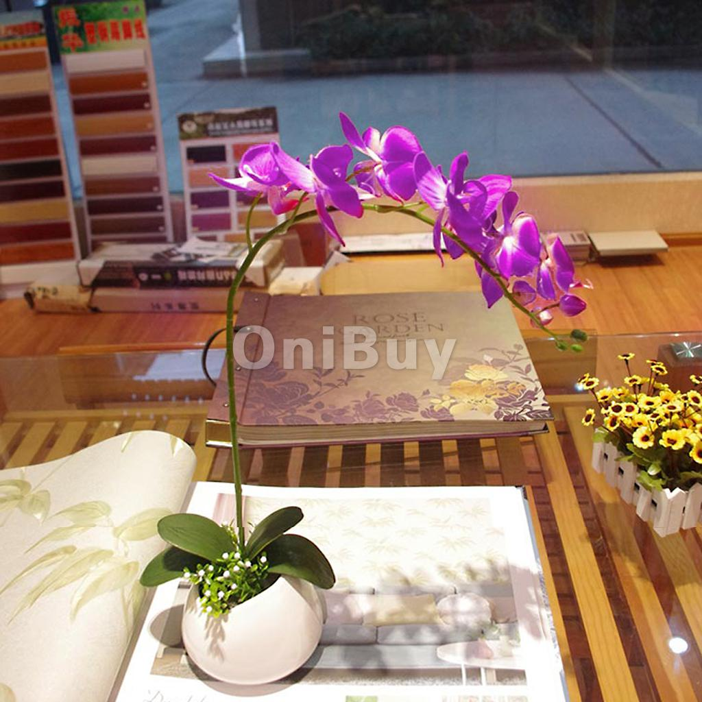 1 Branch Green Artificial Butterfly Orchid Leaf Decorative