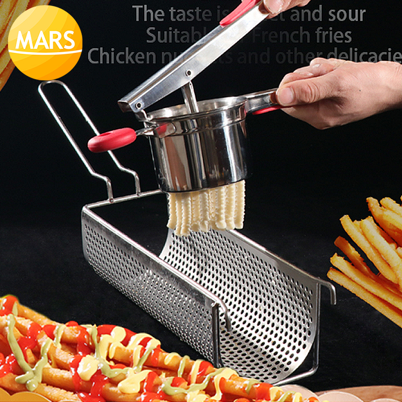 Footlong 30cm French Fries Maker Stainless Steel Potato Chips Making Machine Manual French Fries Cutters Super Long French Fries