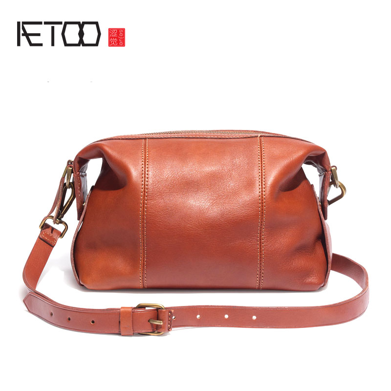 AETOO Euramerican fashion Casual leather handbag first layer leather shoulder bag ladies portable oblique shoulder bag защитное стекло red line для lg k4 tempered glass
