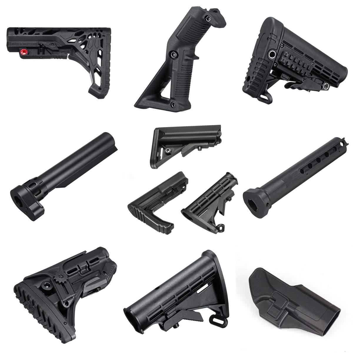 Nylon Estoque/Aperto do Punho/Coldre/Tubo de Buffer Para JinMing 8th M4A1 Gel Bola Blastering Armas de Brinquedo