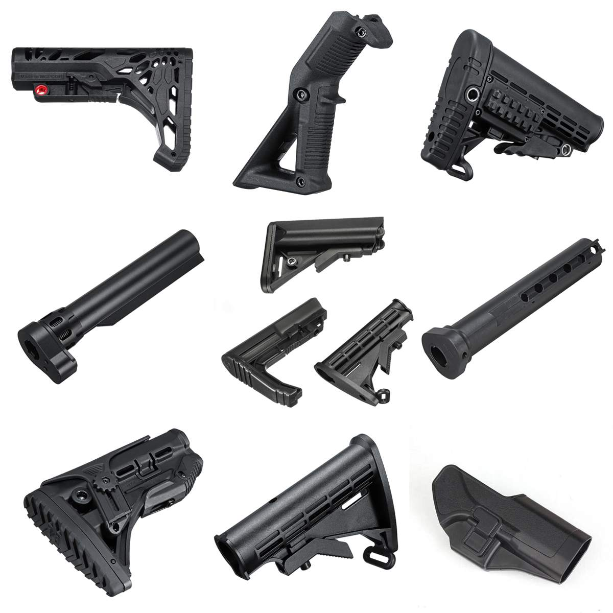 Nylon Stock/Handle Grip/Holster/Buffer Tube For JinMing 8th M4A1 Gel Ball Blastering Toy Guns