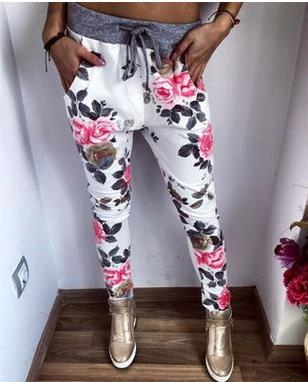 Free shipping New Style Fashion Women Casual   Pants   Flower printed Womens Harem   Pant   2018 Summer   Capris   Trousers
