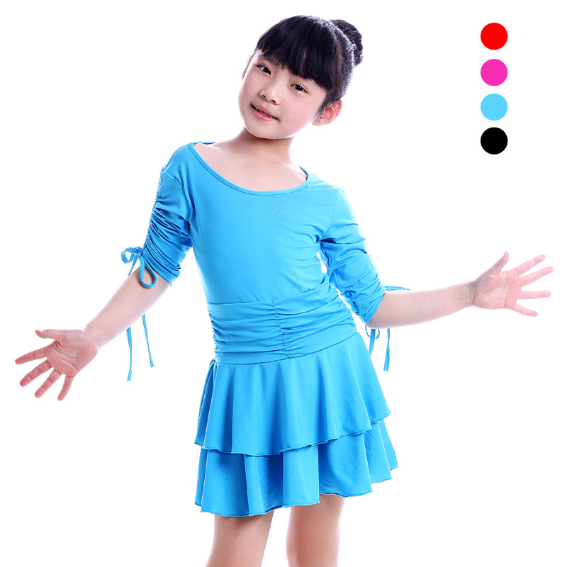 New Arrival Girl Kids Standard Competition Latin Dance Dress Children Ballroom Dress Tango Salsa Rumba ChaCha Stage Show Costume