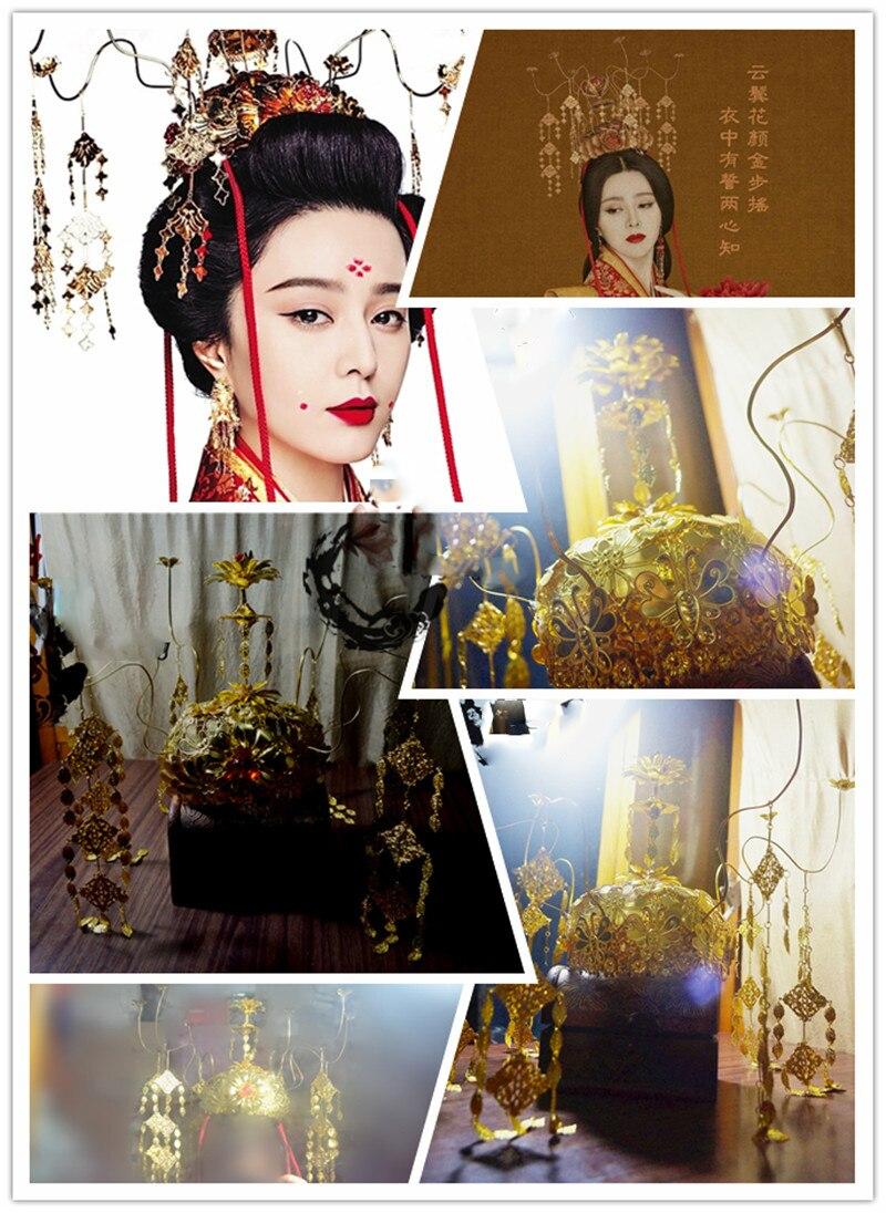 Tv Play Lady of the Dynasty императрица Ян Юань такой же дизайн волос диадемы головной убор ручной работы для свадебная прическа невесты аксессуар - 3