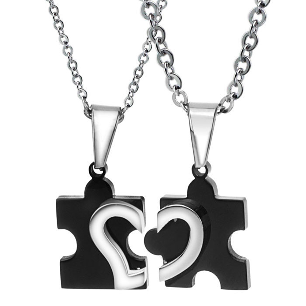 High Quality Matching Heart Necklaces for Couples Promotion-Shop ...