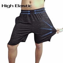 New Men Running Shorts Training Marathon Quick Dry Fitness Gym Printing Sport With Pocket Plus Size Jogger