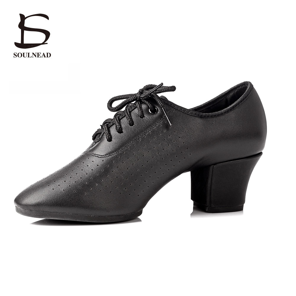2017 New Female Latin Shoes Ladies Black Outdoor Square Dancing Shoes For Women Adult Ballroom Tango Salsa Modern Dance shoes