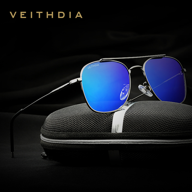 VEITHDIA Fashion Brand Fashion Unisex Sun Glasses Polarized Coating Mirror Sunglasses Oculos Female Eyewear For Men/Women 3820