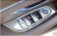 Матовый Хром ABS межкомнатных дверей подлокотник окно переключатель крышки отделкой 4 шт. для Mercedes Benz E Class W213 2016 2017