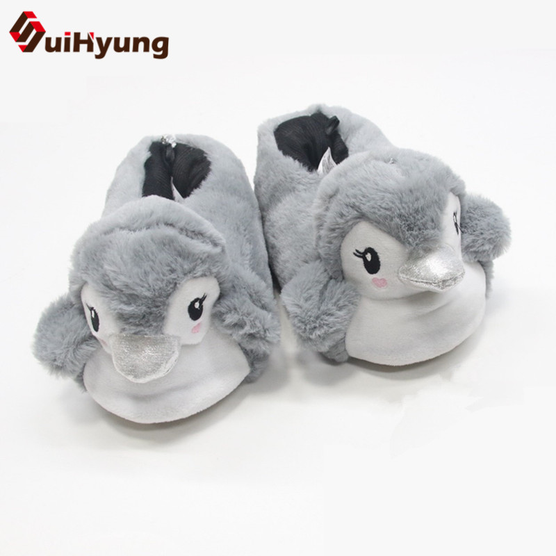 Suihyung New Winter Warm Indoor Shoes Women Home Slippers Flock Animal Prints Cotton-padded Shoes Flats Female Bedroom Slip On suihyung new funny animal prints flock home slippers women winter warm indoor floor shoes flat cotton shoes short plush slip on