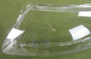 Image 2 - 2 PCS Fari di Plastica Borsette Paralume Fari obiettivo di Vetro di Copertura del faro Borsette per 06 11 Audi A6 A6L C6