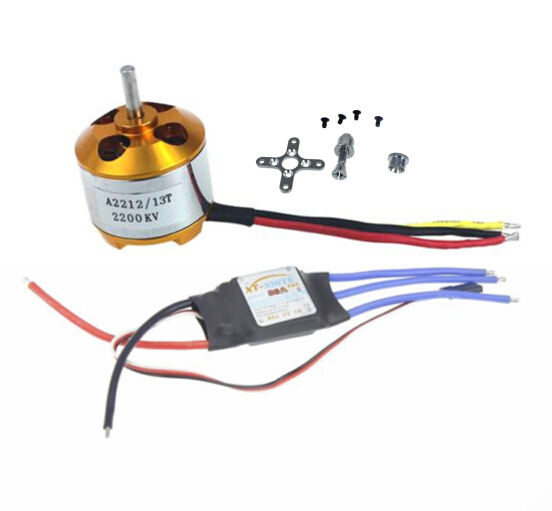 F02048-z  A2212 2200KV Brushless Outrunner Motor W/Mount 6T + 30A ESC Controller For RC Quadcopter multi copter UFO