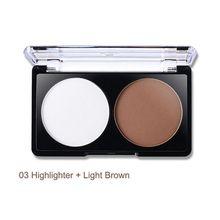 2 Colors Makeup Face Contour Kit matte pressed powder and illuminating highlighter Beauty Set Palette 12g