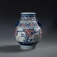 Jingdezhen vase ceramics vintage bucket blue and white porcelain at home decoration