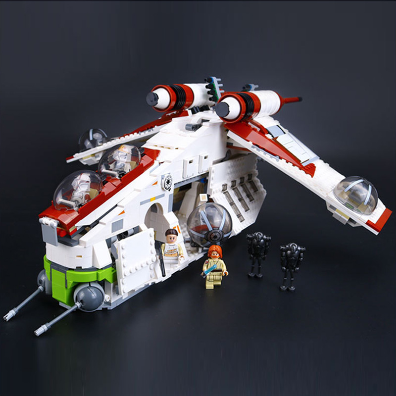 lepin 05041 real series, the republic gunship set educational building blocks toy 75021 legoed new lepin 16009 1151pcs queen anne s revenge pirates of the caribbean building blocks set compatible legoed with 4195 children