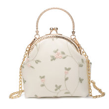 Ins Shell Handbags Luxury Brand Canvas Women Bags Designer Totes Evening Bag Retro Clip Travel Chain Purse Shoulder Bag(China)