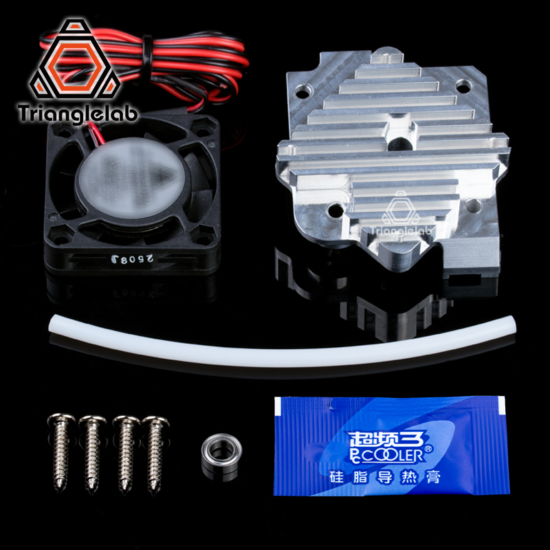 Trianglelab 3d printer parts 1.75/3mm aluminum Titan Aero extruder Upgrade Kit 12V/24V fan Free shipping reprap  mk8 i3