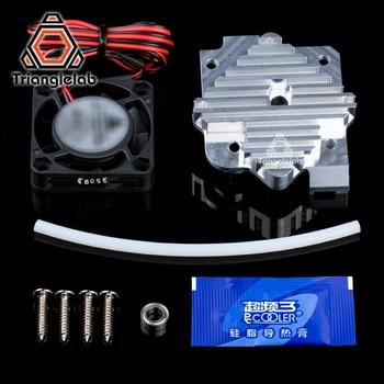 Trianglelab peças de impressora 3d 1.75/3mm alumínio titan aero extrusora kit atualização 12 v/24 v ventilador frete grátis reprap mk8 i3|parts 3d printer|3d printer aluminum parts|3d printer parts aluminium -