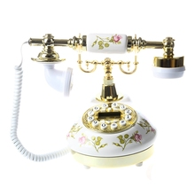 Antique Designer Phone nostalgia telescope vintage telephone made of ceramic MS 9100