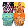 Super Fruits!JinoBaby AIO Cloth Nappy Stay Dry Cloth Diaper for 3KGS TO 17KGS