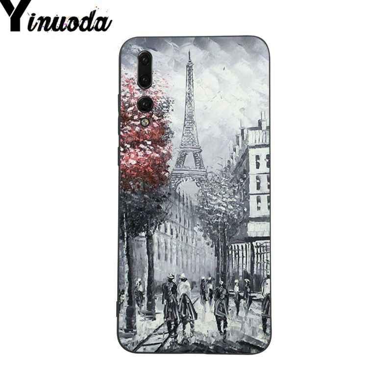 Yinuoda Các Tháp Eiffel paris tình yêu màu hồng Coque Điện Thoại trường hợp đối với Huawei P9 P10 Cộng Với Mate9 10 Mate10 Lite P20 pro Honor10 View10