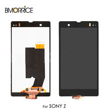 For Sony Xperia Z L36H L36i C6606 C6603 C6602 C660x c6601 LCD Display Touch Screen Digitizer Assembly No Frame Original Black цены онлайн