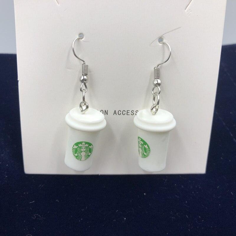 Fashion Creative Simulation coffee Milk Tea cup earrings for Korean Minimalist Women Gift Earrings Jewelry Wholesale