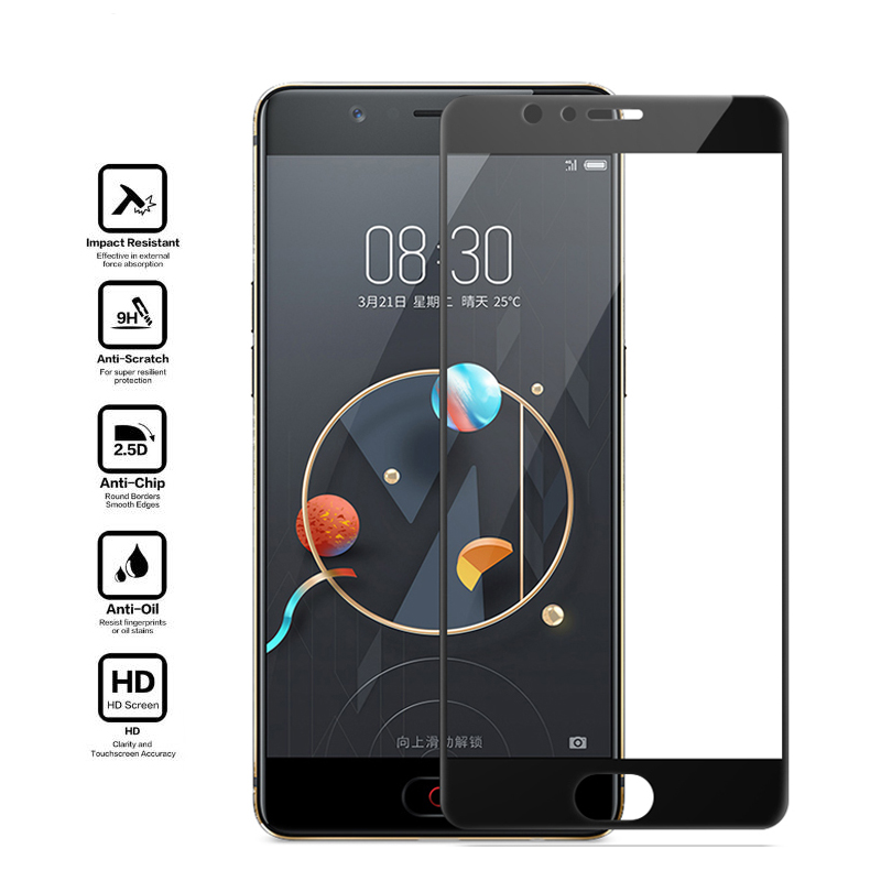 Full Cover Screen Protector Tempered Glass For ZTE Blade V8 A2 Plus Nubia M2 Lite Z17 Mini Z11 Mini S Front Film Toughened Glass