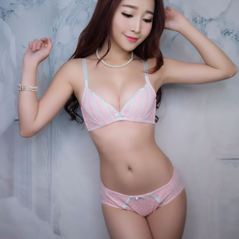 Young Girls Small Bra Set Cotton Push Up Women Underwear -6807