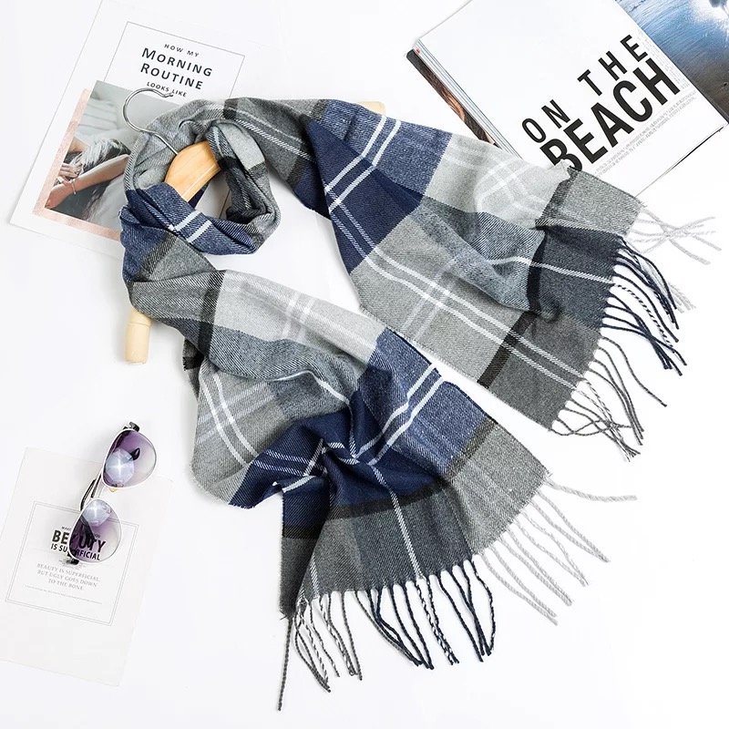 Free shipping man scarf Luxury brand plaid scarf winter high quality wool cashmere shawl tassels women scarf headscarf poncho plaid