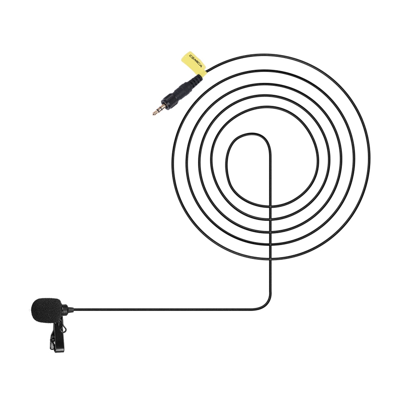 Comica Cvm-M-O2 3.5Mm Omnidirectional Microphone Input Line Cable For Sony Wireless Microphones