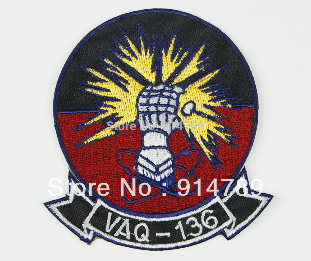 US NAVY EA-6B PROWLER VAQ-136 GAUNTLETS BIG PARCHE PATCH -32772