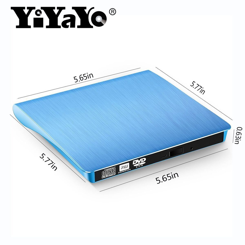YiYaYo USB 3.0 External Record DVD/CD Drive Burner Portable Driver CD/RW Player Writer For Windows 10/7/8/Mac Laptop PC Desktop