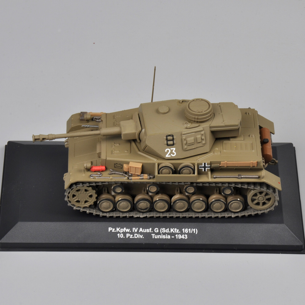 IXO 1:43 Scale Diecast Tunisia-1943 Pz.Kpfw.IV Ausf.G Tank Navy Tank Mannequin Assortment Youngsters Items