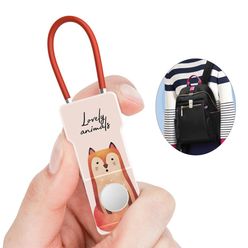Smart Lock Fingerprint Padlock Anti-Theft Tough USB Rechargeable Waterproof Security For Women Girl Backpack Luggage Office