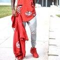 2017 A Mais Recente High Street moda zipper calças corredores dos homens motociclista legal moletom mulheres e homens calças hip hop mens calças str