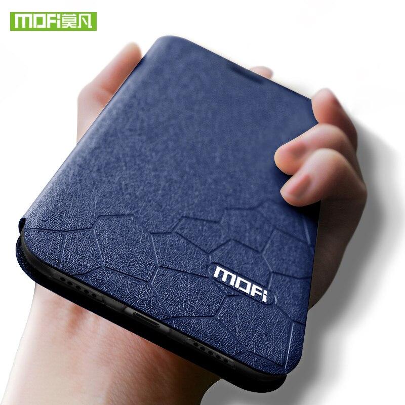 NEUE Für Xiaomi Redmi Hinweis 7 Pro Fall Mofi für Redmi Hinweis 7 Pro Fall Abdeckung Luxus Flip TPU Leder fall für Xiaomi Redmi Hinweis 7