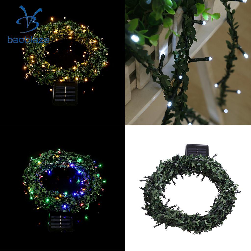 100LED 10 м/32.8ft Солнечный 100LED свет шнура Гарленд фея света лампы для праздников Свадебная вечеринка Рождество Крытый Открытый Декор