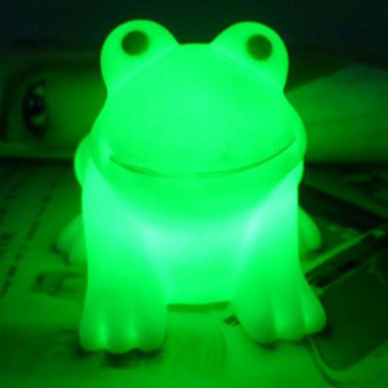Colorful LED Frog Night Light AG13 Batteries Children Kids Table Lamp Home Decor