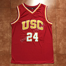 27b36224281 clearance aliexpress buy top usc trojans 24 brian scalabrine jersey  throwback college basketball jersey vintage retro basket shirts red for men  stitched ...