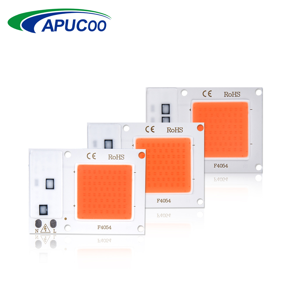 110 220 COB Rise LED Chip Grow Lys Fuld Spektrum 10 W 20 30 Diode Fitolampy Phyto Lampe til Planter Spirer Blomster Indendørs