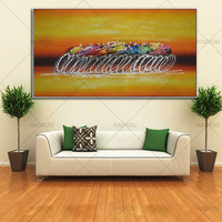 Hand Painted Modern Abstract Oil Painting Home Wall Art Canvas Set With tour of france Artwork Gift For Living Room Decoration