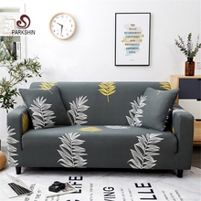 Parkshin Fashion Leaf Slipcovers Sofa Cover All-inclusive Sectional Elastic Full Couch Towel 1/2/3/4-Seater