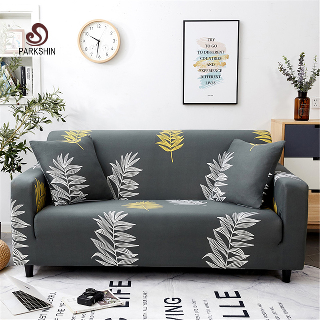 Parkshin Fashion Leaf Slipcovers Sofa Cover All inclusive Sectional Elastic Full Couch Cover Sofa Towel 1/2/3/4 Seater