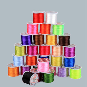 60 M Colorful Flexible Rope DIY Crystal Beading Stretch Cord Elastic Line Beadwork Wire Thread Jewelry Making 21 colors wire