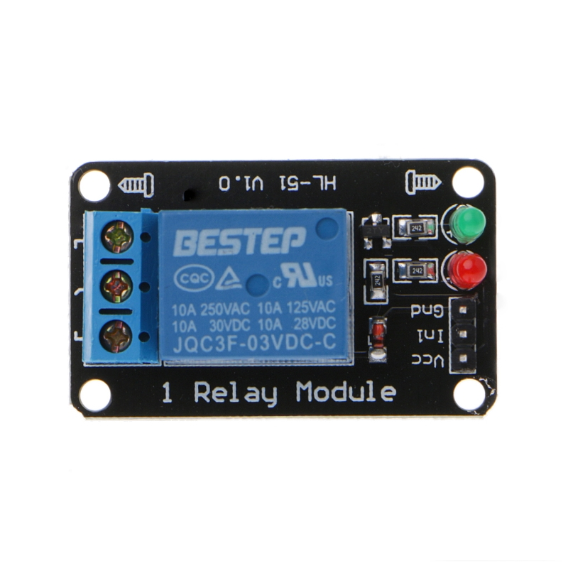 1PCS 1 Channel 3V Relay Module 3.3V Low Level Shooting with Lamp Dls HOmeful 1pcs 3 3v 1 channel 3v relay module optocoupler isolation low level trigger relay module