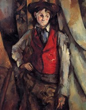 Boy in a Red Vest Painting