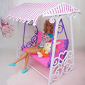 Fashion Dolls Mini Furniture Girl Toy Swing Set Beautiful Plastic Doll Accessories For 1/6 Dolls