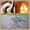 Eyes Care Contacts Tweezers Insert Remover Contact lenses Tweezers Colorful Silicone 60mm Tweezers Makeup Tool EB1066