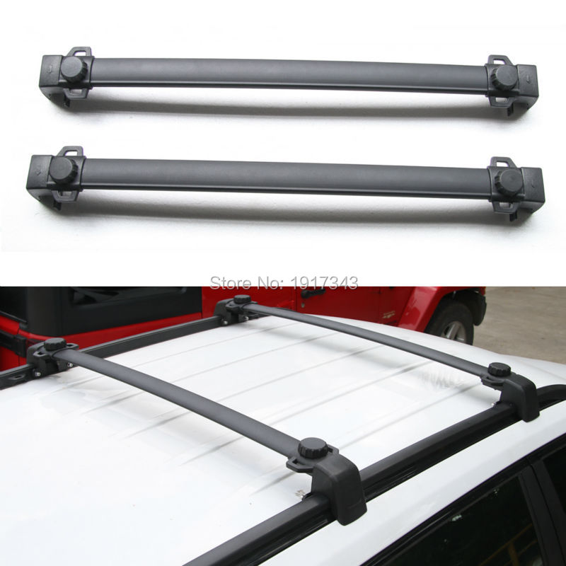 2Pcs Black Roof Rack Cross Bars For Jeep Compass 2017+ Car Cross Bar Roof Luggage Rack Car Styling Accessory 2pcs roof rack cross bar crossbar black abs aluminum for jeep compass 2011 2015